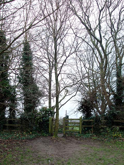 Access point to a footpath