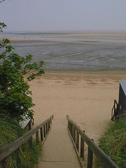 Steps to Beach from Pinewoods