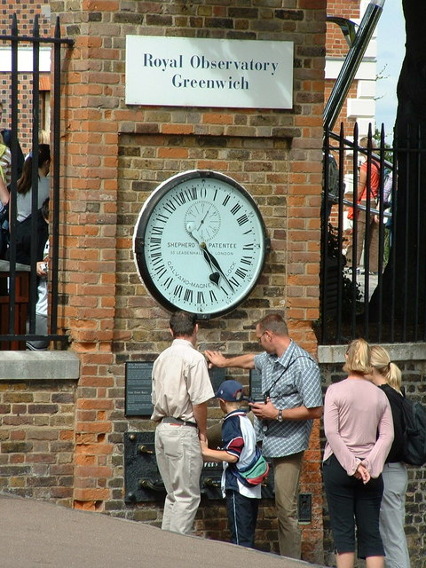 Royal Observatory Clock in Greenwich Park.