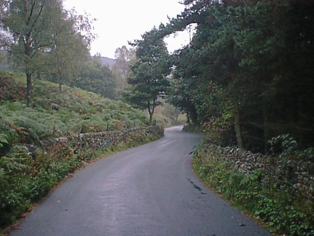 Winding Road Down to Beeley Village