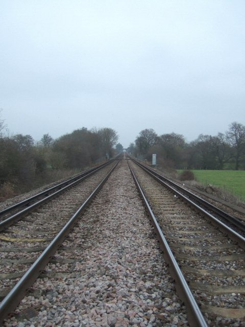 Railway Line Near Stallhouse Lane