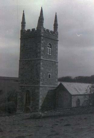 Old Photo of Morwenstow Church