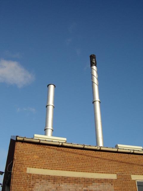 Alyn Works, chimneys at Gate 3