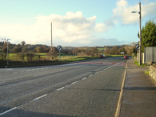 Mold to Denbigh road stretches off into the distance