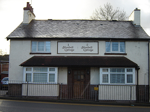 Former pub, now two cottages, in Mold