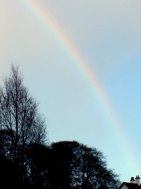 Rainbow over Bailey Hill in Mold