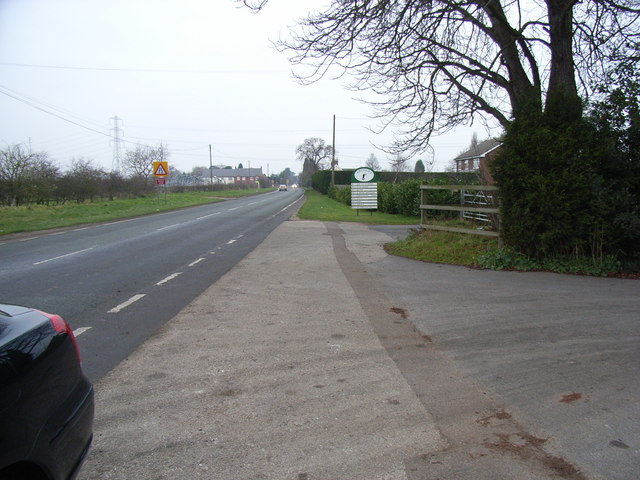 A513 towards Kings Bromley