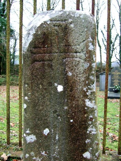 Pillar stone, Llanychaer churchyard