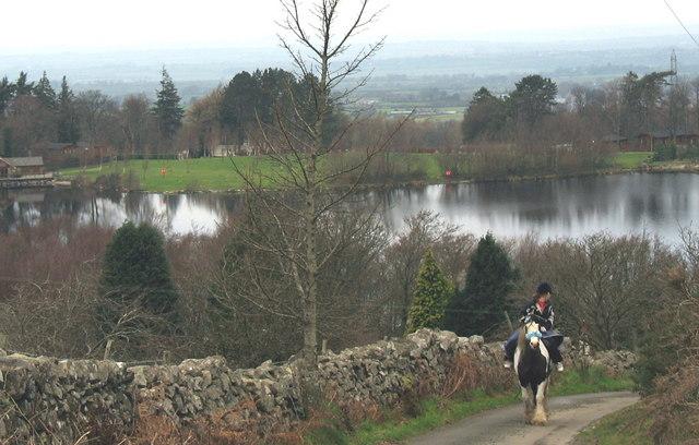 Horserider above Llyn Brynbras