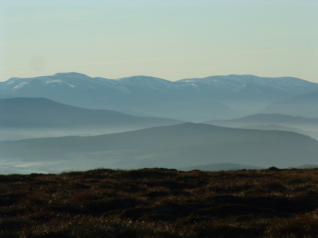 View of the Cairngorms.