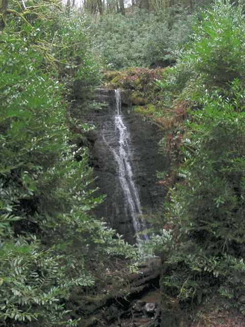 Waterfall on tributary to Loughor