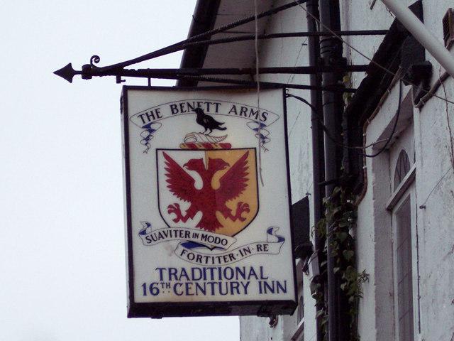 Benett Arms Sign