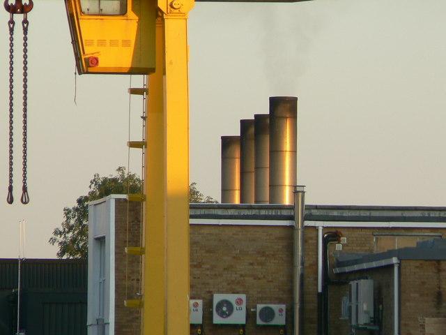 BMW MINI Swindon Body Plant, North boilerhouse chimneys