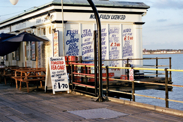 Southend pier; old tea shop