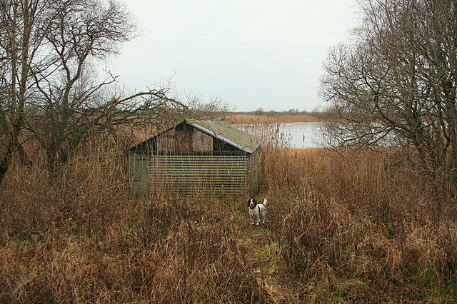 An old boathouse on Spynie Loch.
