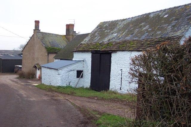 Farm buildings at Llanvair