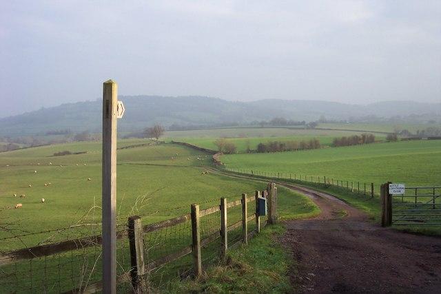 Track to Little Llanthomas Barn