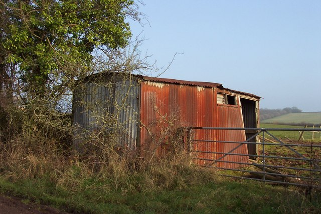 Old corrugated iron shed