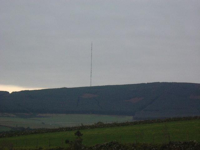 View of Durris TV mast