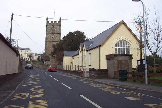 Raglan primary school and parish church