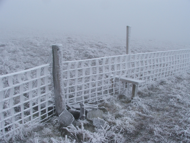 Stile and Fence on Lovely Seat.