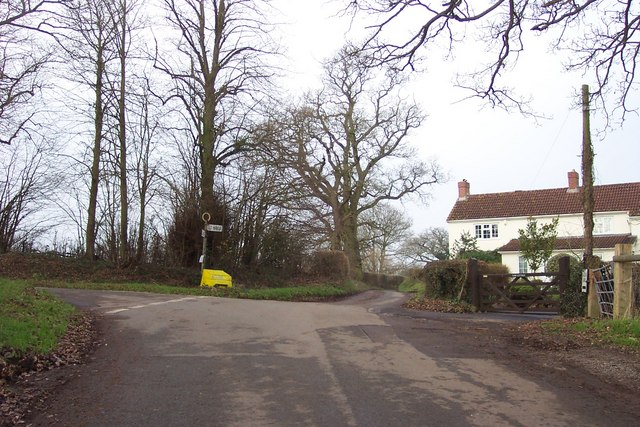 Junction to the west of Llandenny