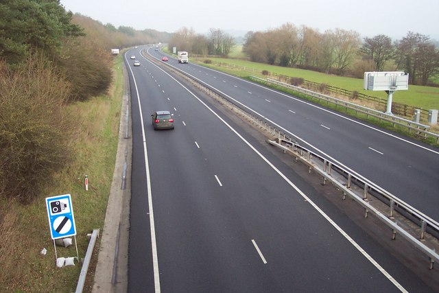 A449 trunk road looking north