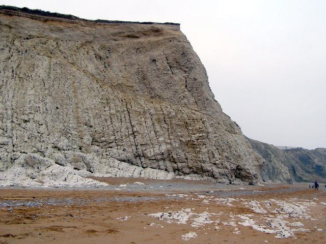 Cliff at the eastern extreme of the Scratchy Bottom embayment, Durdle Cove