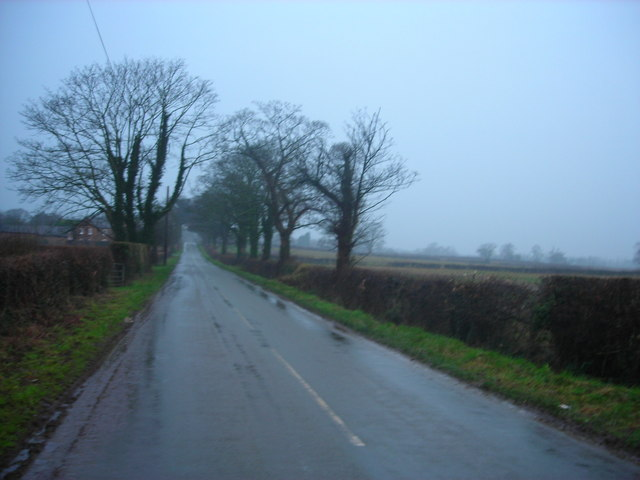 Wet road - Willington Lane