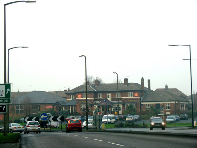 The Highwayman Roundabout, the A638 junction with the B1220
