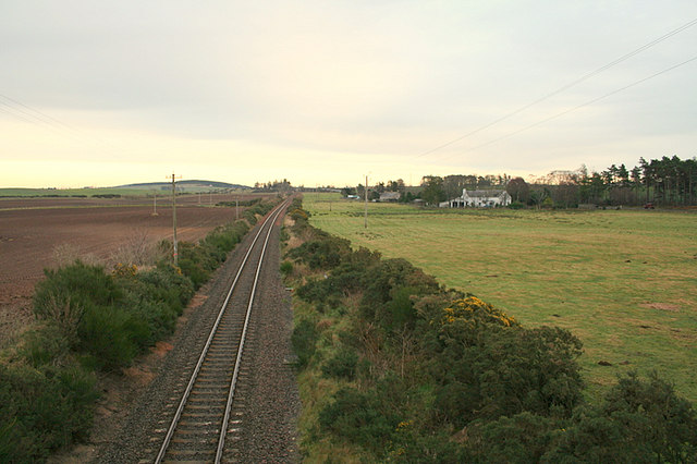 Easterly view from Runmerry railway bridge.