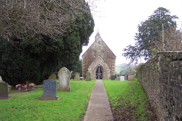 One of two churches at Llangwm
