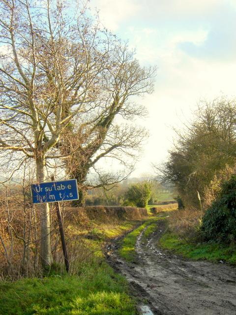 Green lane off Ffordd y Fron, Nercwys