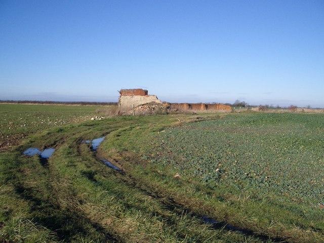 Remnants of Wold Barn near Bozeat