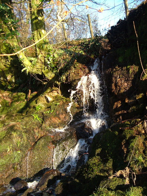 Waterfall into River Tavy