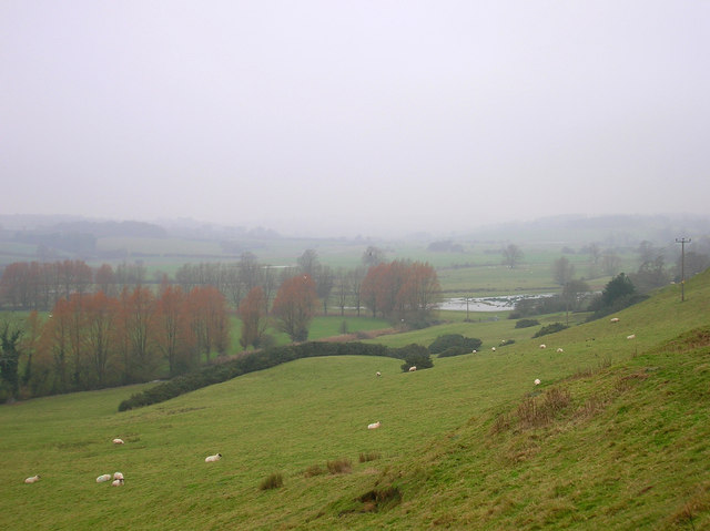 Waterlogged Fields from Leasam Hill
