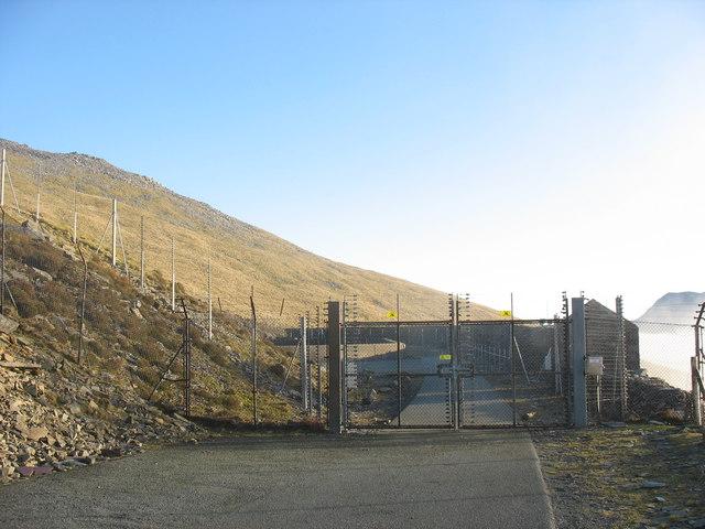 The surge pond enclosure of the Dinorwig HEP station