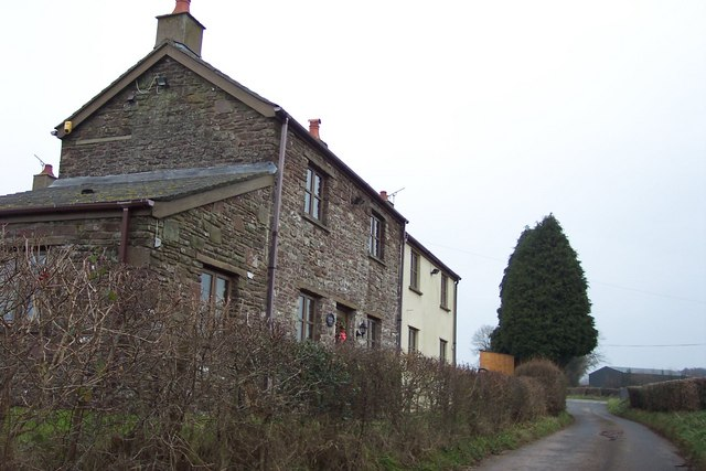 Cottages near Goytre Farm