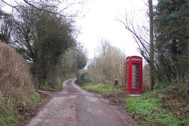 Phonebox on a steep country lane
