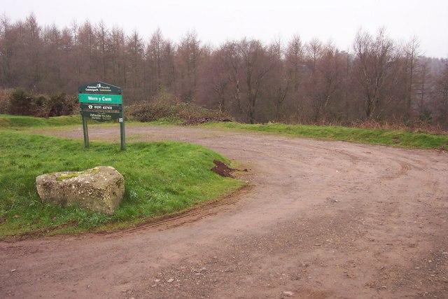 Car park at Wern-y-cwm woods