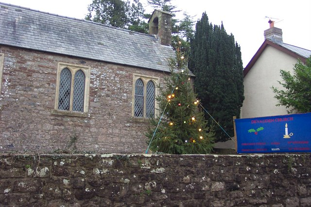 Devauden church decorated for Christmas
