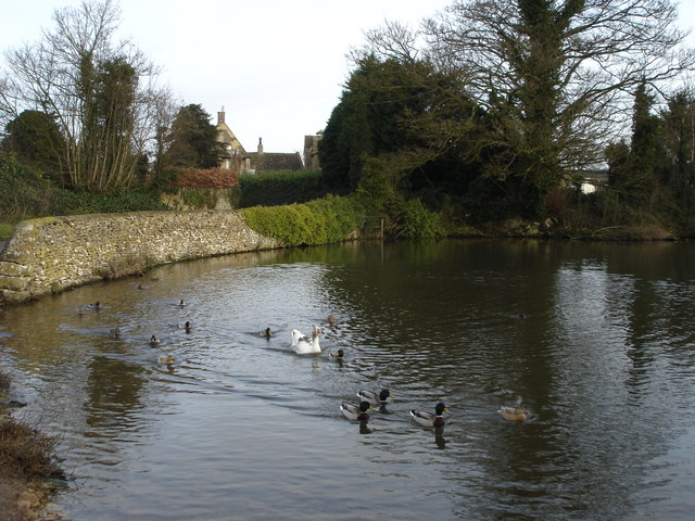 Village pond, Leighterton