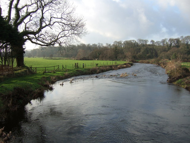 The Western Cleddau at St Catherine's Bridge