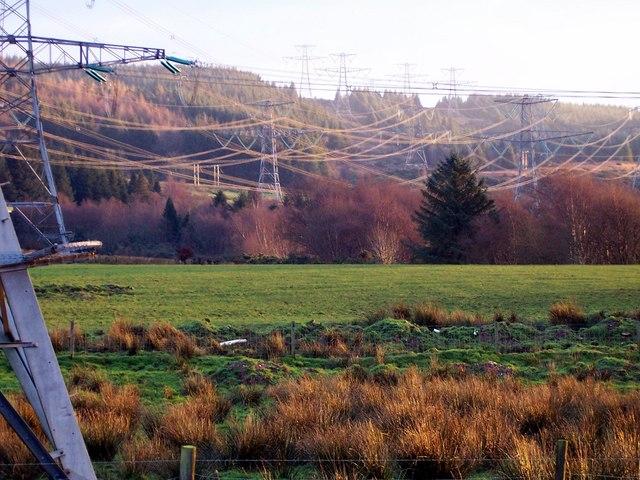 Pylons near Inverkip