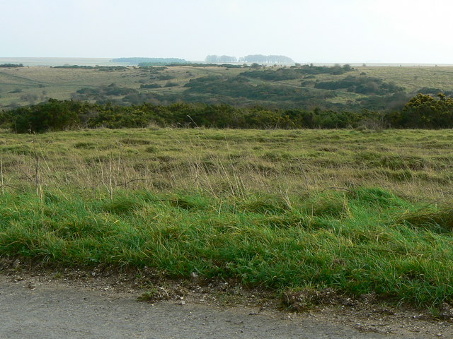 Dead ground, south of Imber Road
