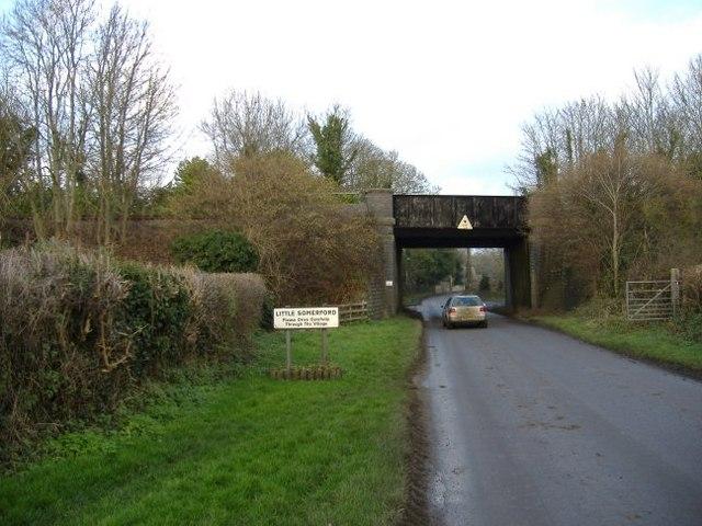 Rail bridge at Little Somerford
