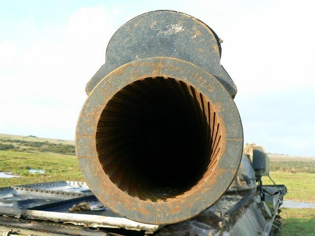 Old tank muzzle, Imber Range, Salisbury Plain
