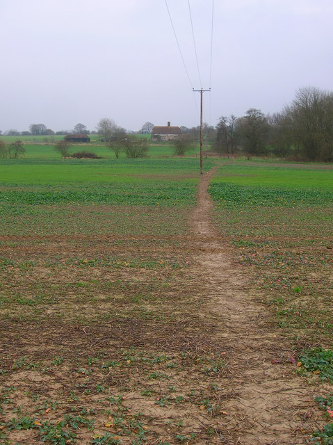 Footpath to Forstal Farm