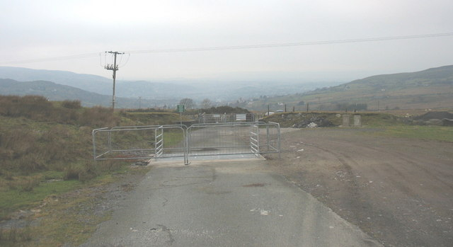 A 'cattle grid' under construction on the First Hydro road