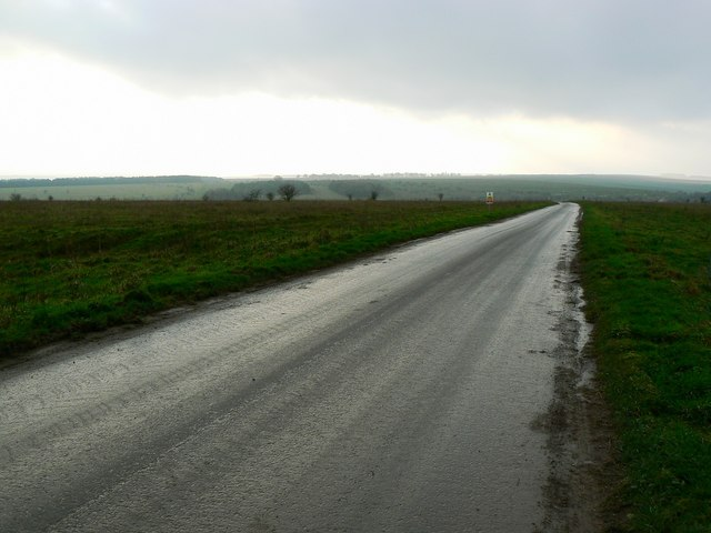 Road leading in general direction of Imber